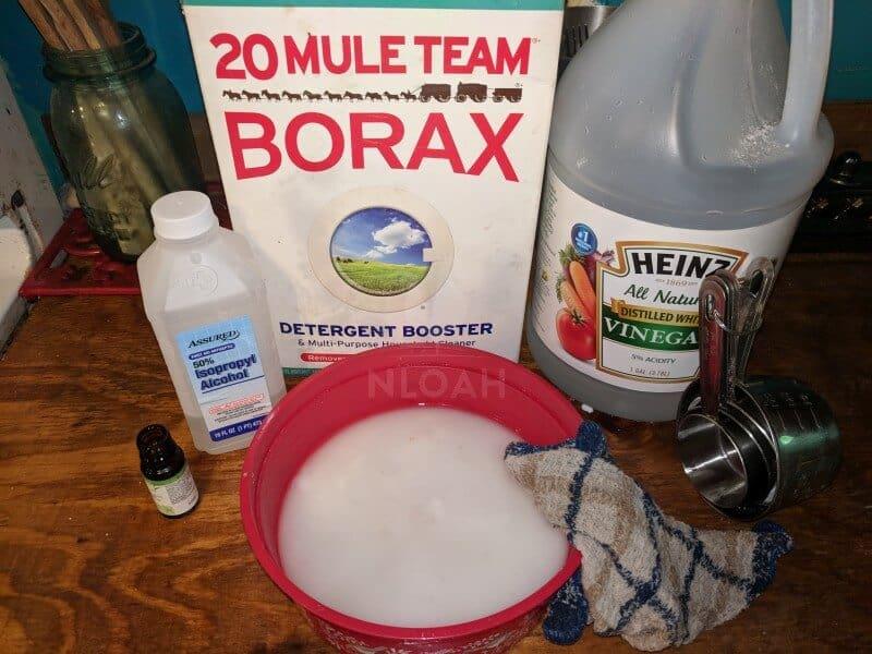 kitchen scouring powder ingredients