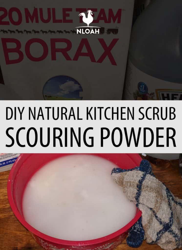 kitchen scouring powder pinterest
