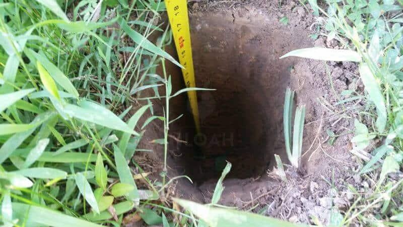 18 inch deep hole