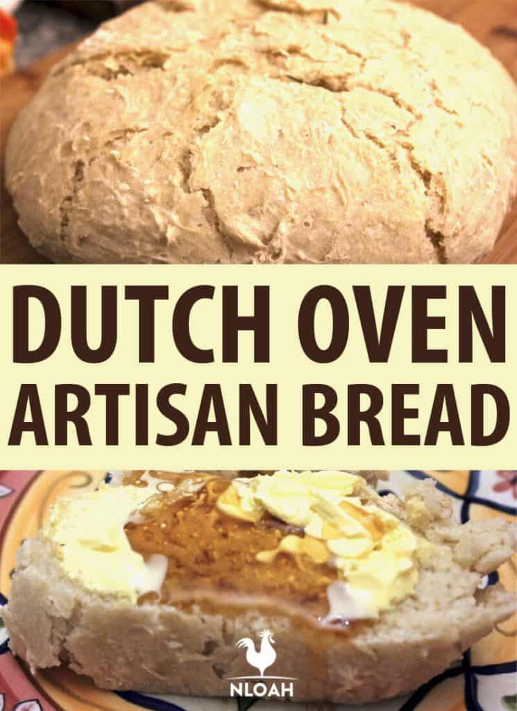 dutch oven artisan bread Pinterest image