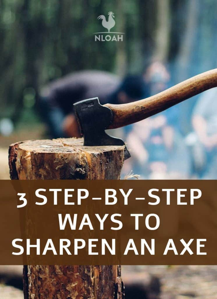 sharpening an axe pin