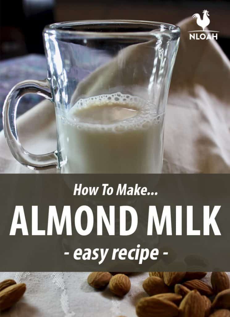 almond milk Pinterest image
