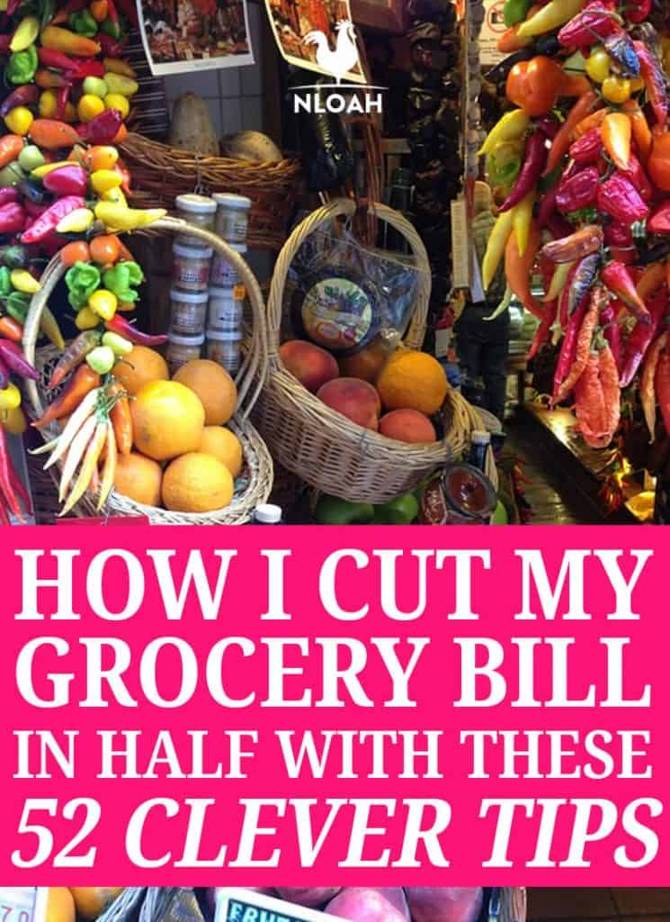 cutting grocery bill Pinterest image