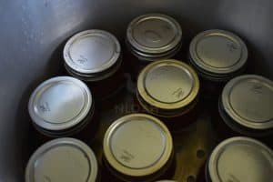 jars inside the canner
