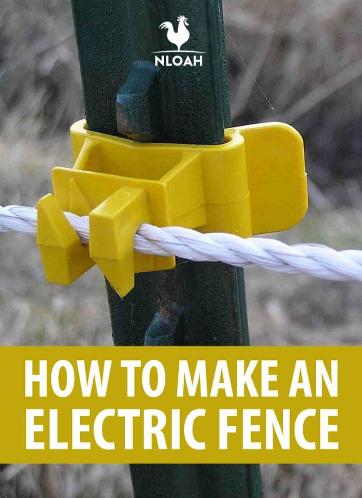 making electric fence Pinterest image