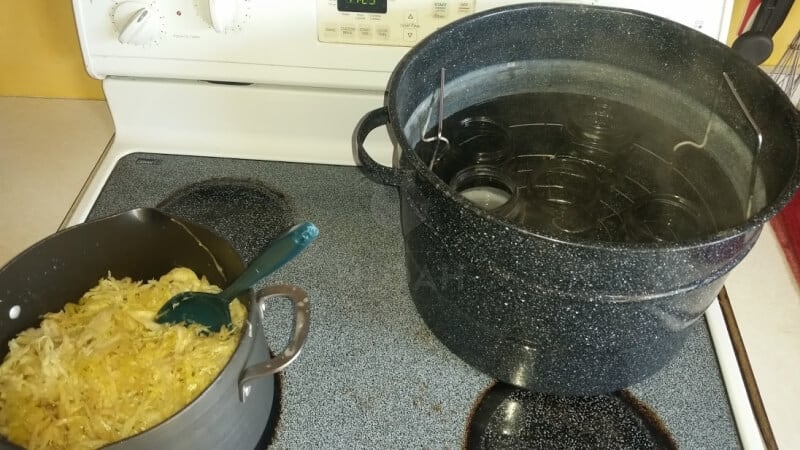 sauerkraut on the stove