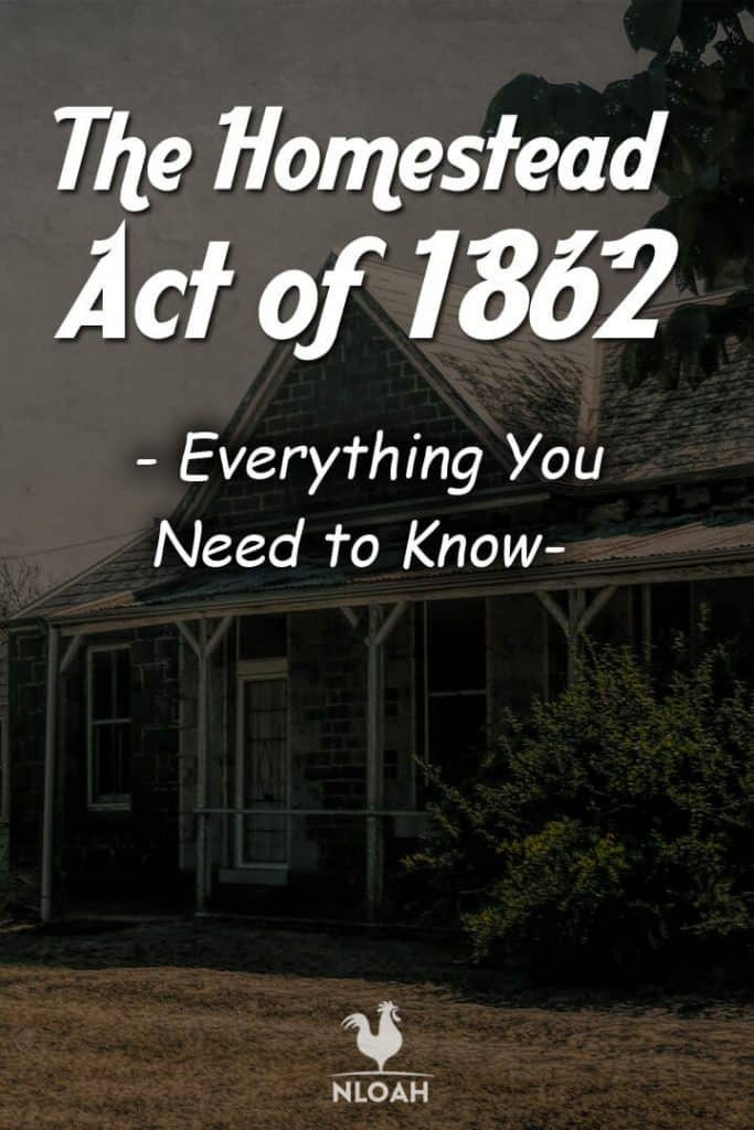 the homestead act Pinterest image