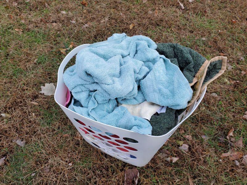 basket full of laundry