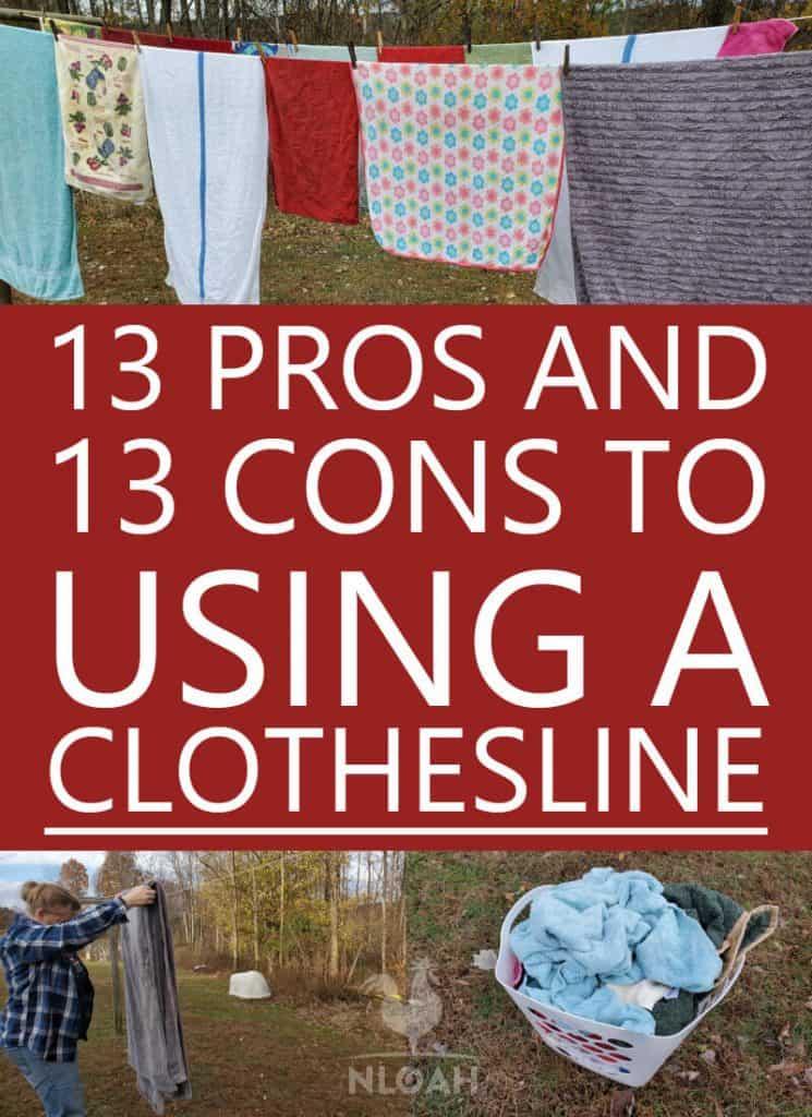 clothesline pros cons Pinterest image