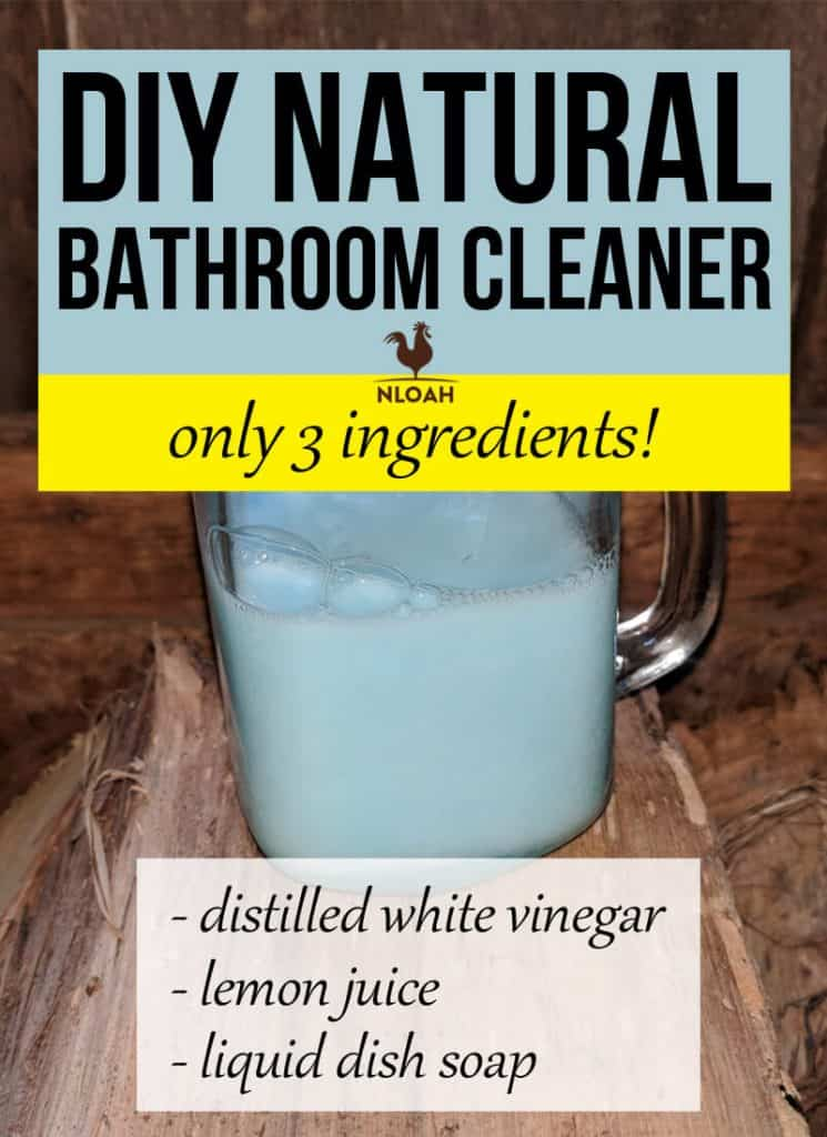 DIY natural bathroom cleaner pin