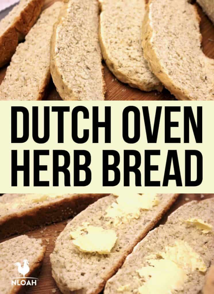 dutch oven herbed bread pinterest
