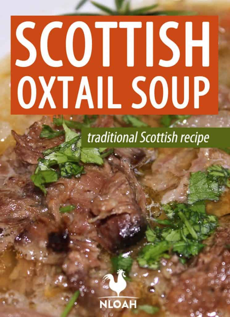 scottish oxtail soup Pinterest image