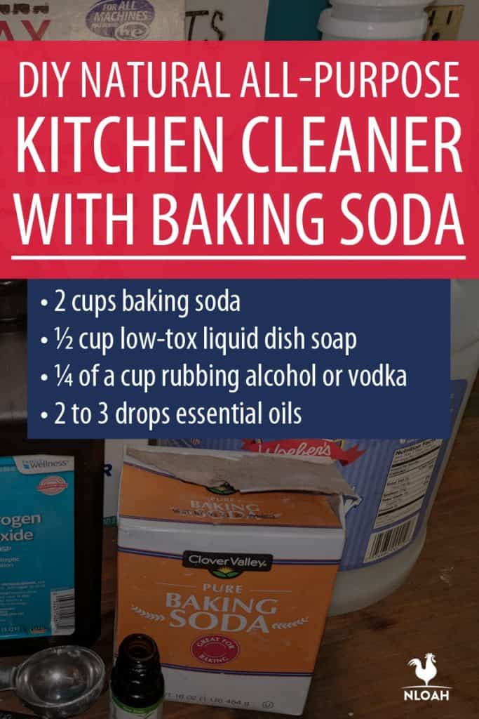 DIY baking soda kitchen cleaner Pinterest image