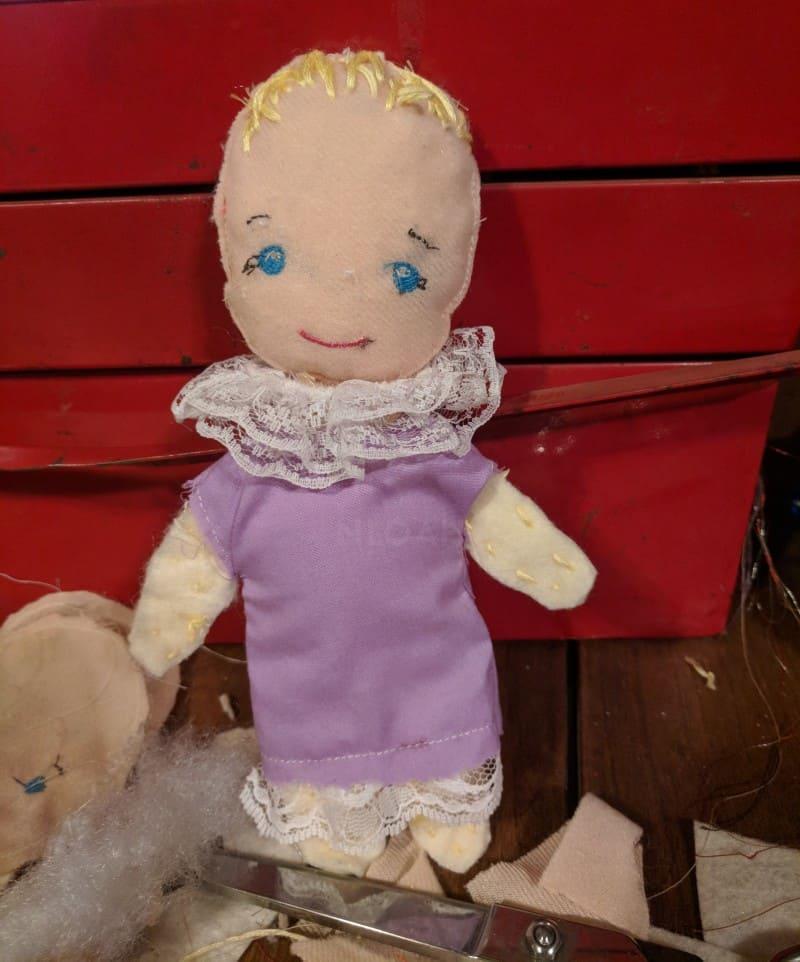finished DIY doll