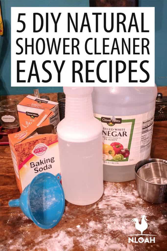shower cleaner recipes Pinterest