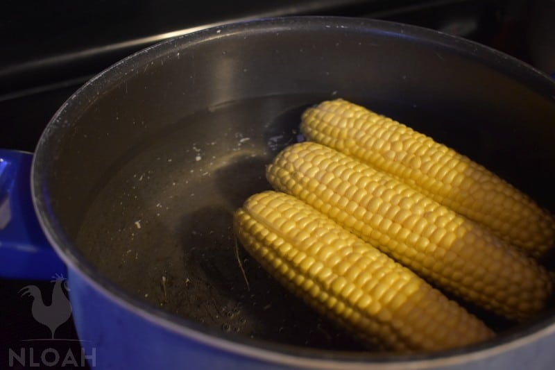 blanched corn