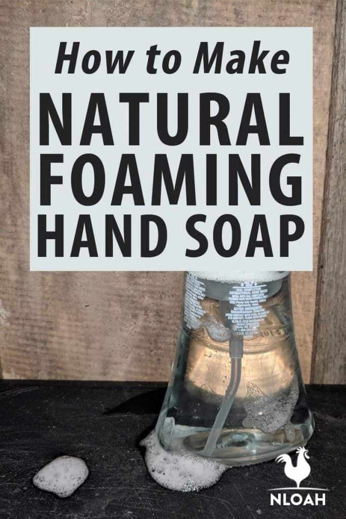 foaming hand soap Pinterest image