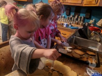 kids helping with making pastries