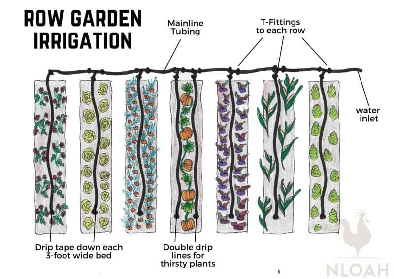 row garden irrigation