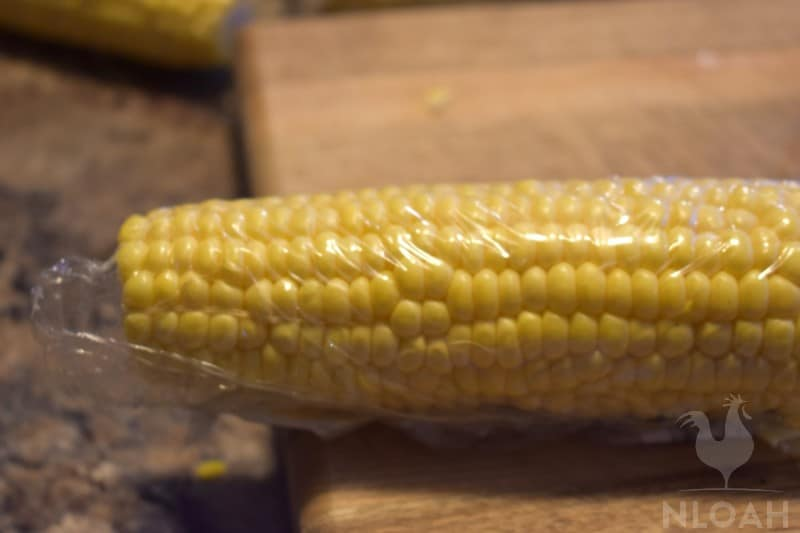 wrapping corn for freezing whole