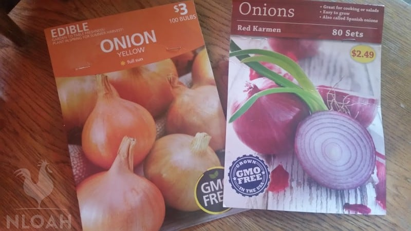 onion seed packets