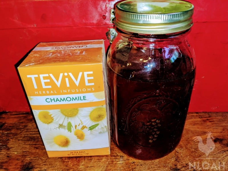 chamomille and raw honey