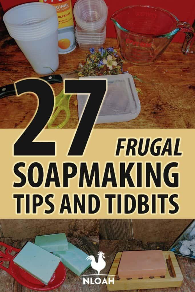 soapmaking tips Pinterest image