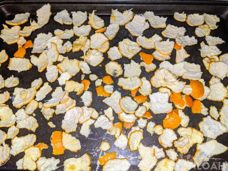 drying orange peels