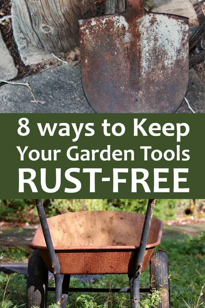 rust free gardening tools Pinterest
