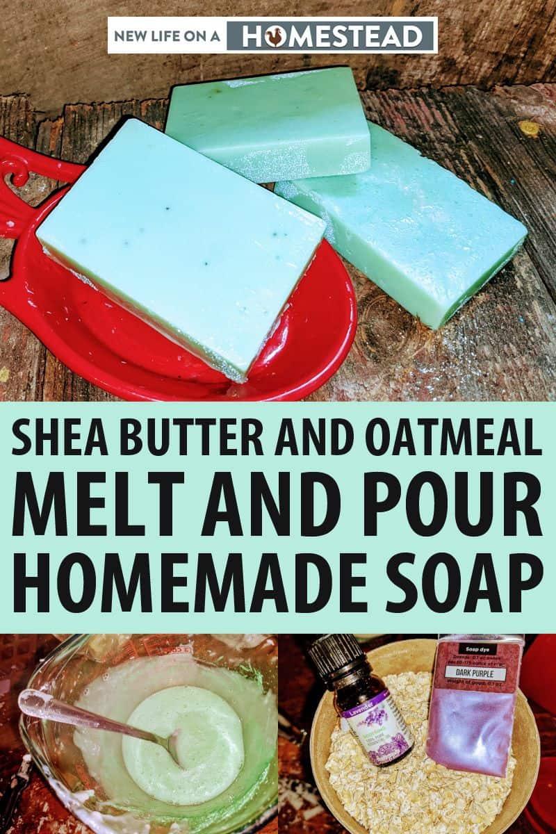 shea butter oatmeal soap pinterest
