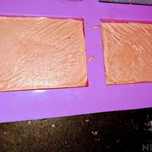 soap molds with soap mixture in them