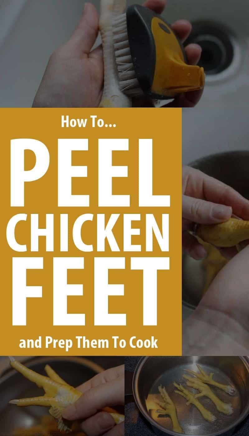 peeling chicken feet pinterest image