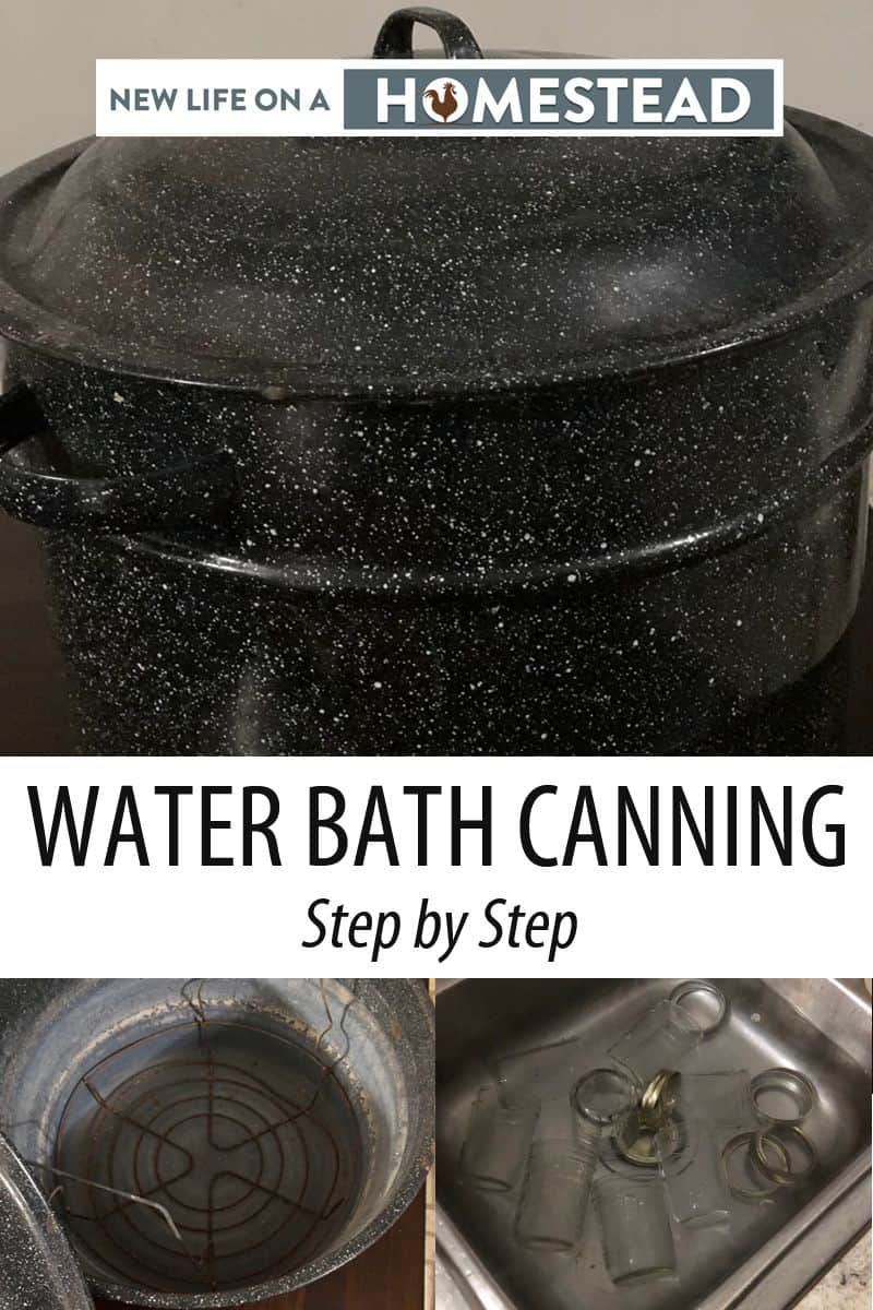 water bath canning Pinterest image