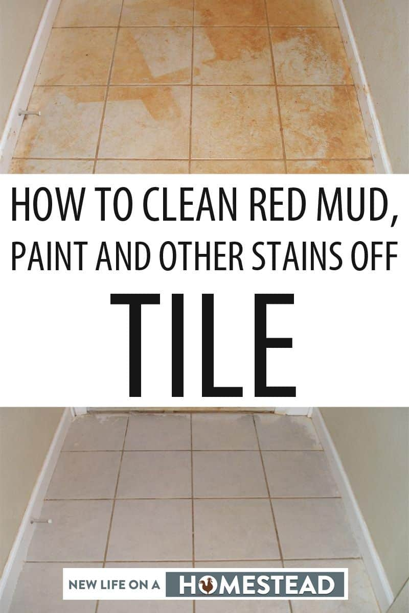 cleaning tile stains Pinterest image