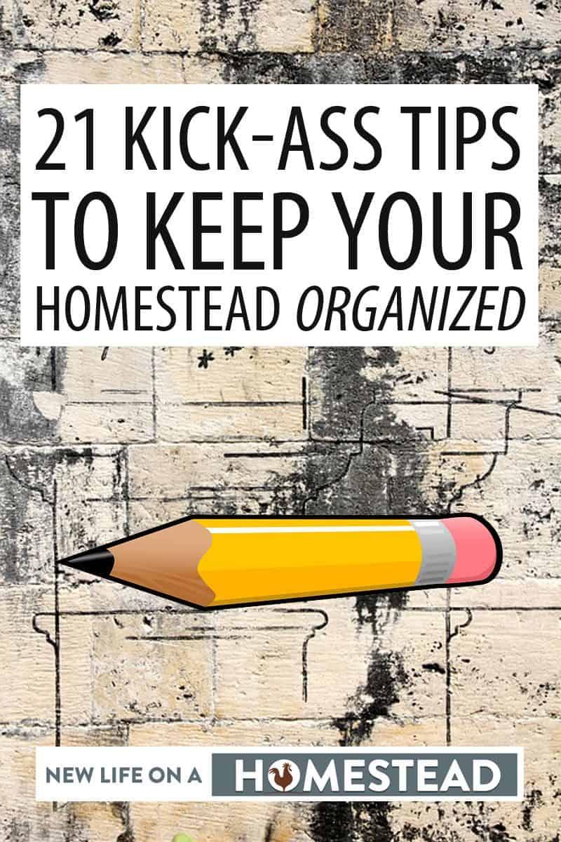 organizing homestead Pinterest image