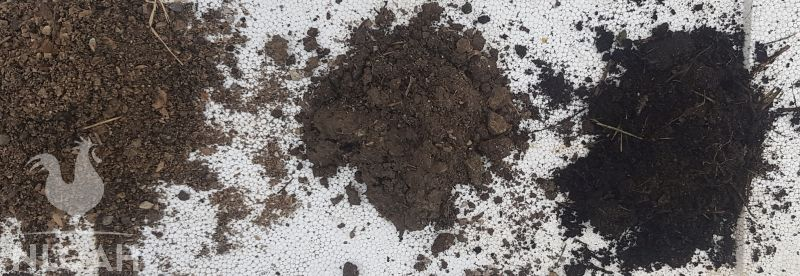 sandy clay and loamy soil