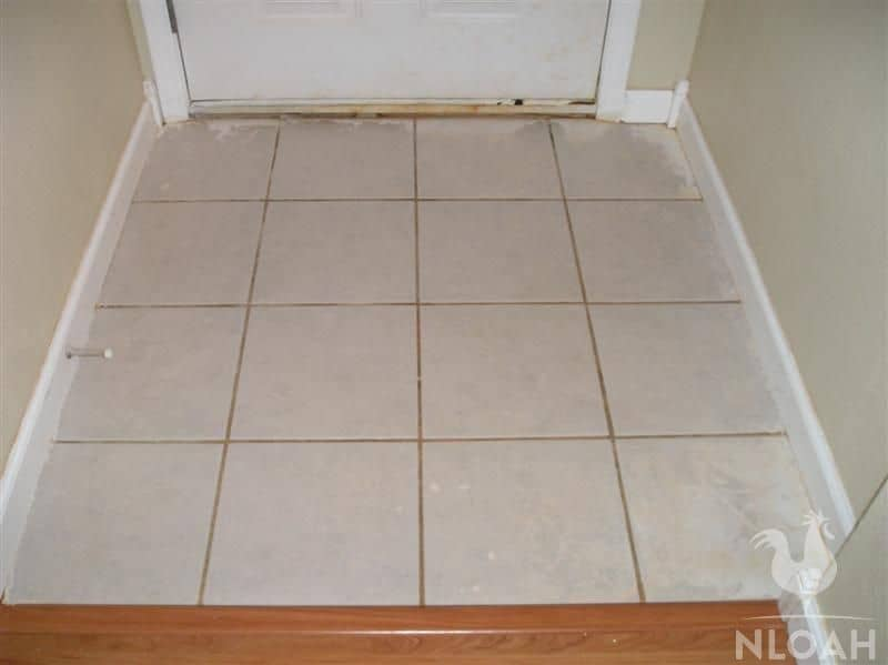 tile after it's been cleaned