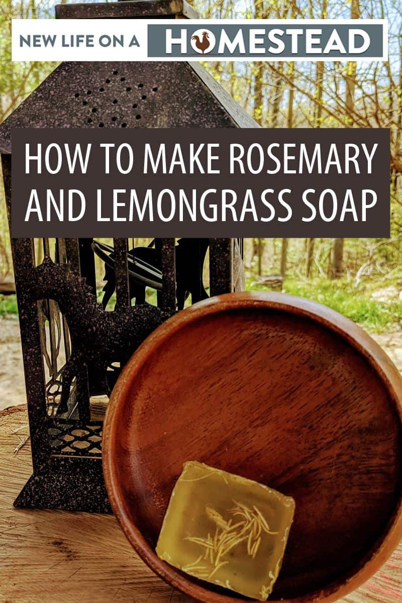 making rosemary soap Pinterest