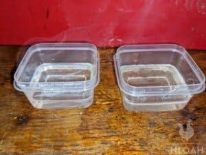 soap molds halfway full