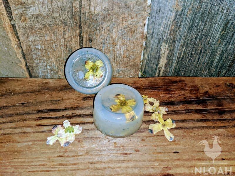 floral DIY homemade soap