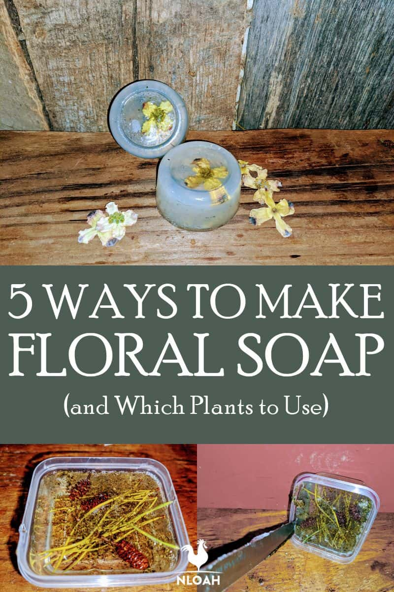 homemade floral soap pin