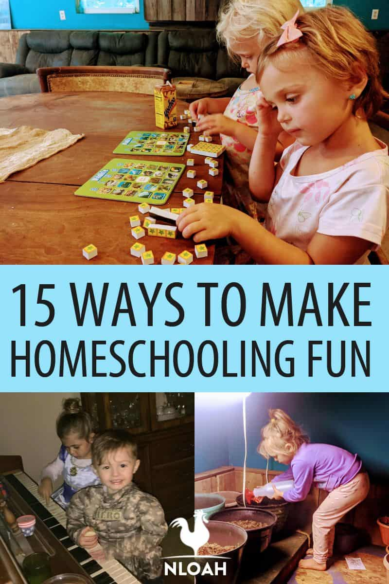making homeschool fun pinterest image