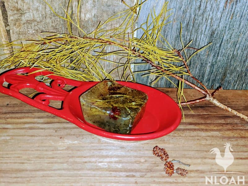 pine needle homemade soap