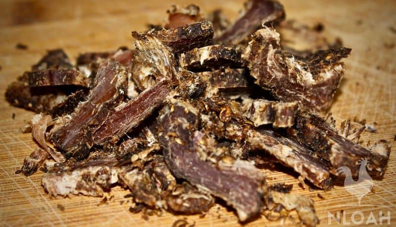 Biltong sliced and ready to serve