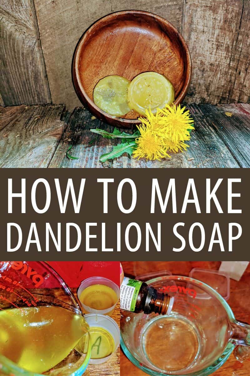 dandelion soap pinterest