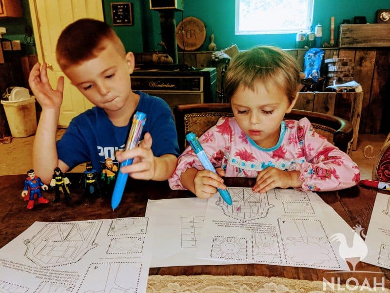 two children during homeschooling