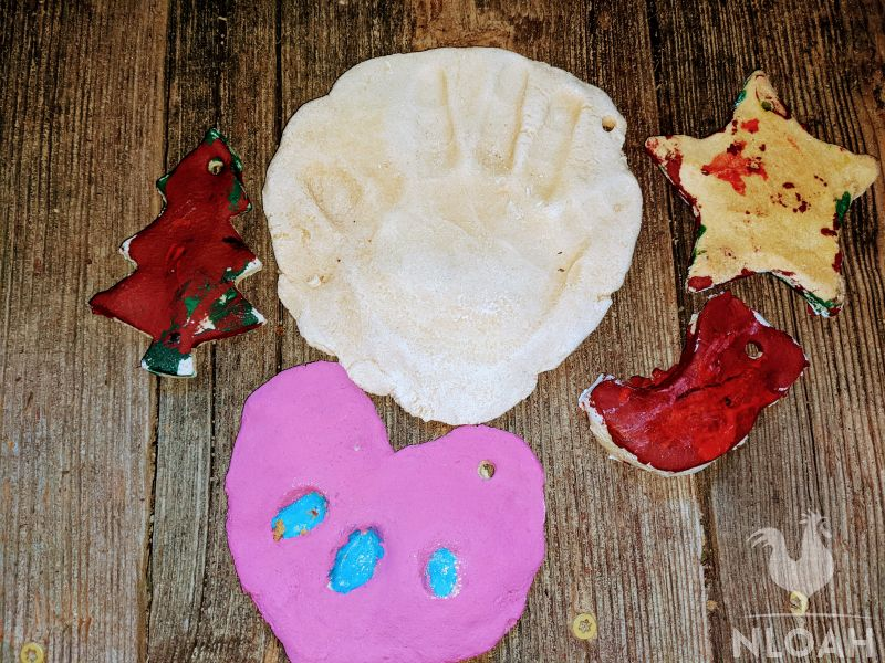 homemade salt dough ornaments