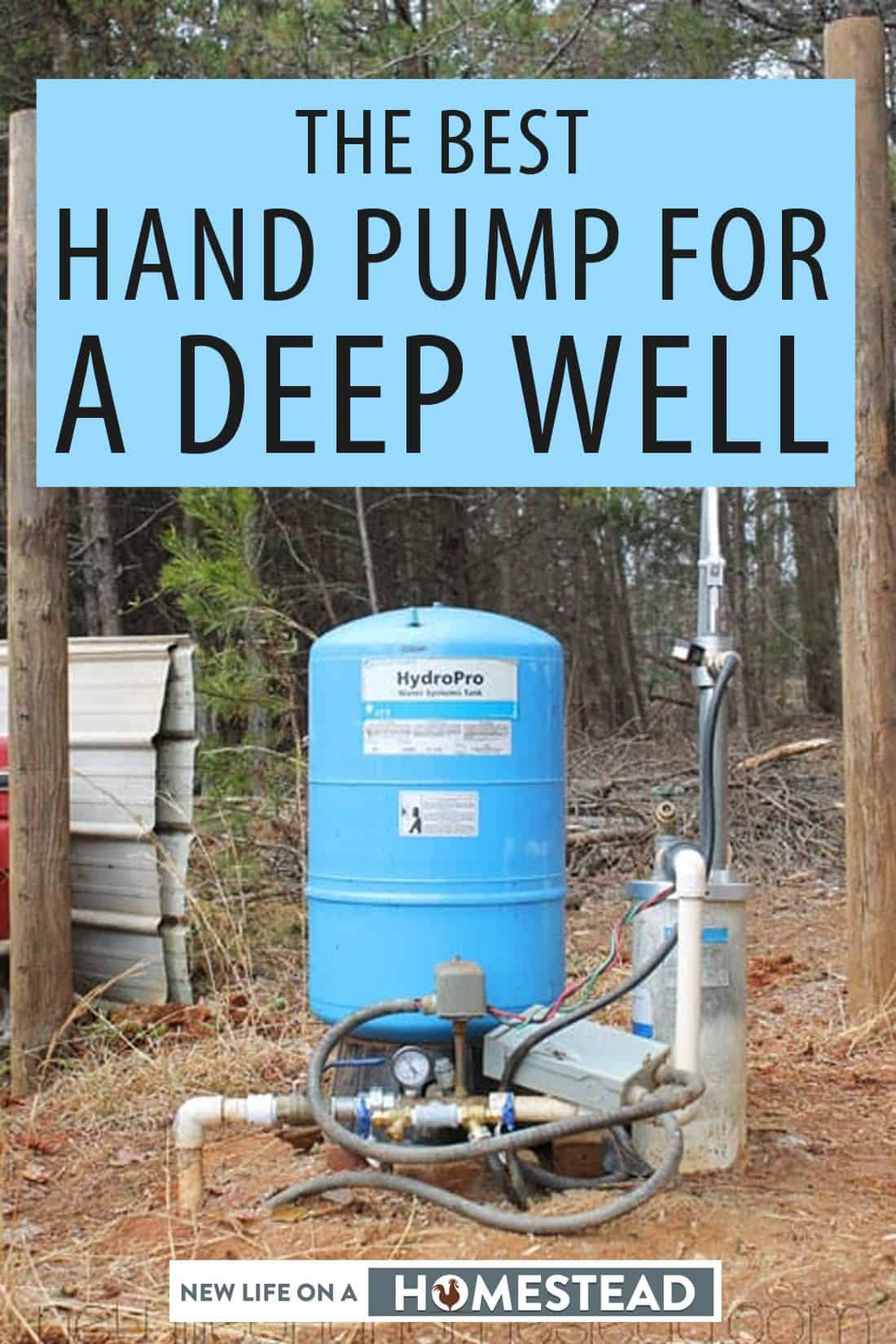 There are two good options for a deep well hand pump: Simple Pump and Bison. Find out which one I chose and why.