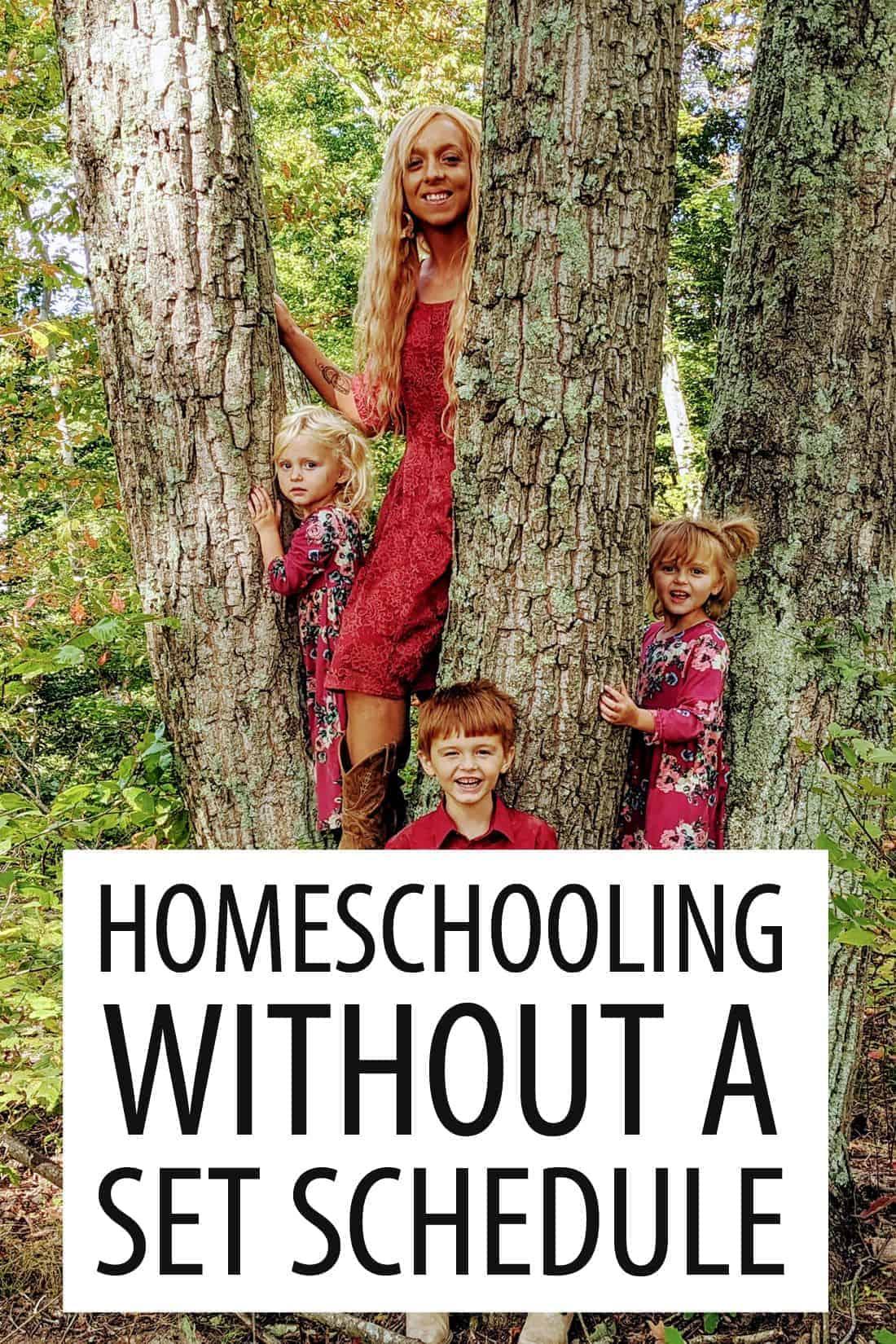 homeschool without schedule pinterest