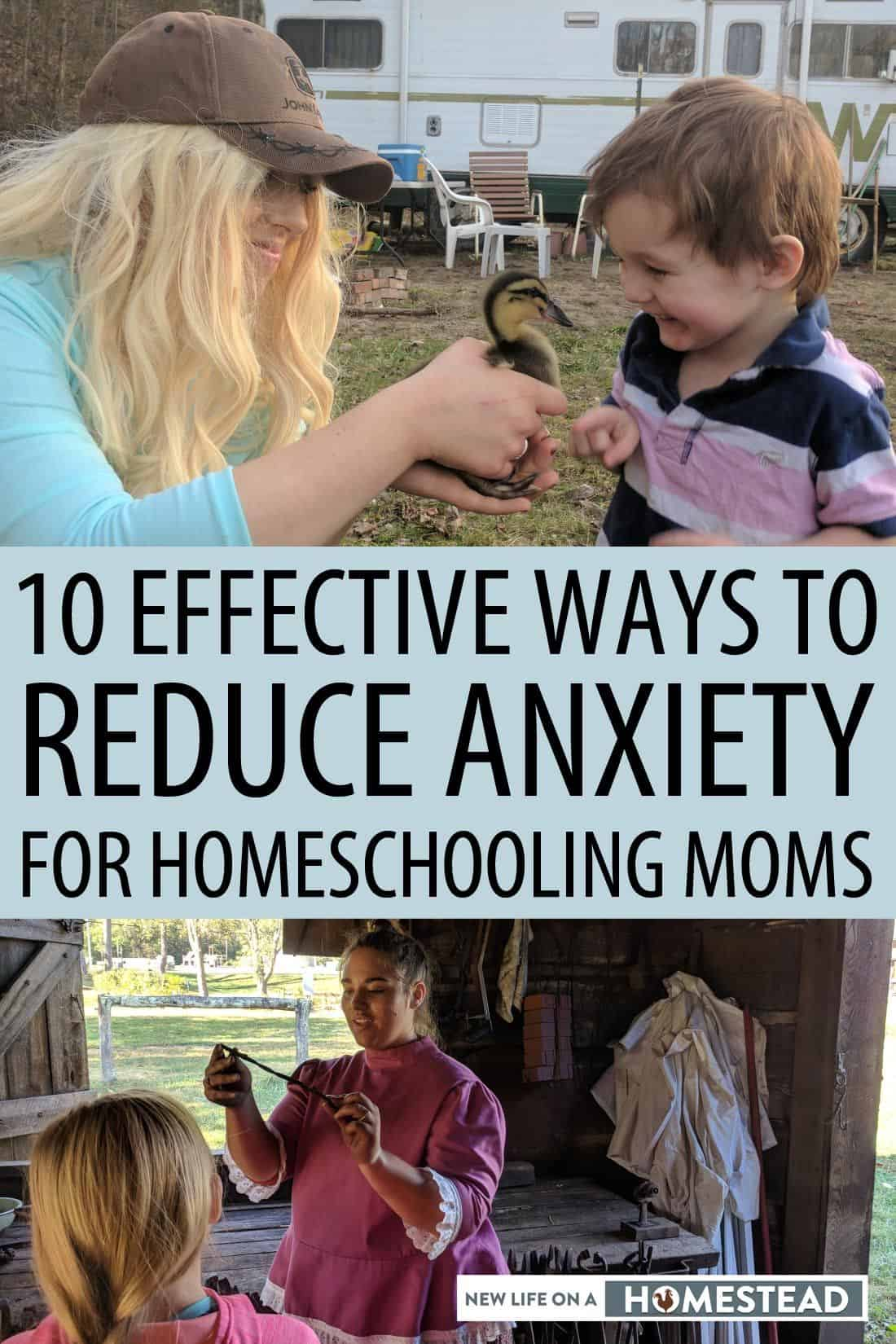 reduce homeschooling anxiety pinterest
